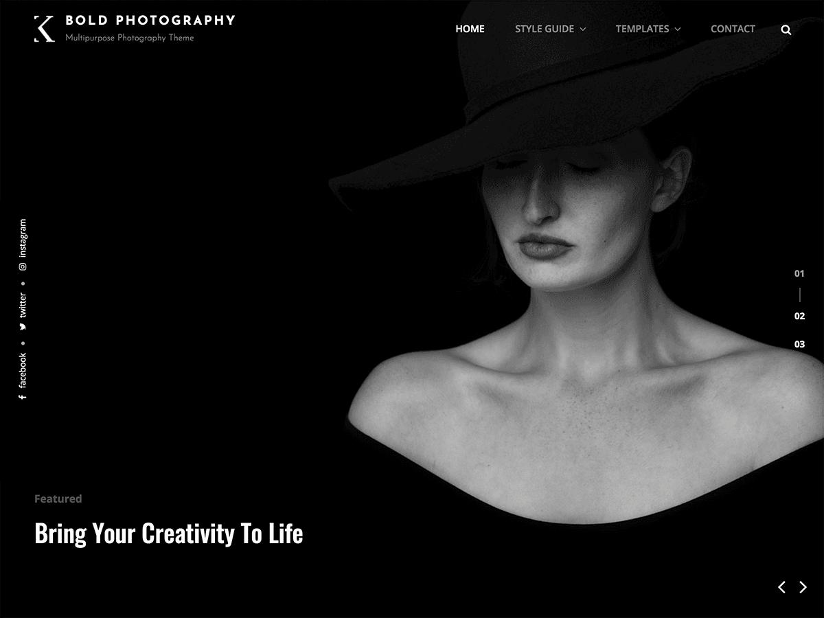 Bold Photography Theme Free theme Wp ZipHost