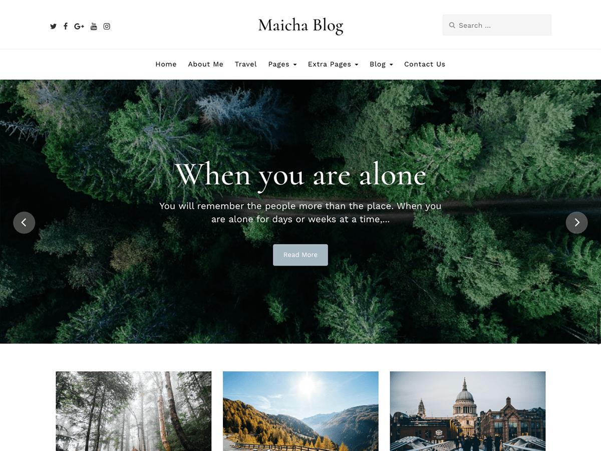 Maicha Blog Free theme Wp ZipHost